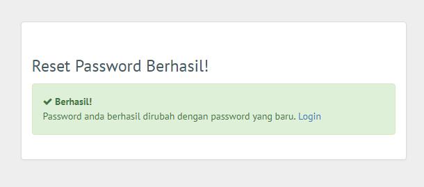 cara reset password
